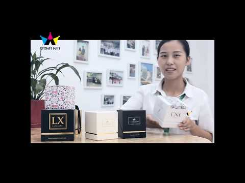 Luxury wholesale custom printed candle packaging gift box with logo