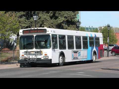 (AUDIO recording) Medicine Hat Transit 2000 New Flyer D40LF Cummins ISC Diesel
