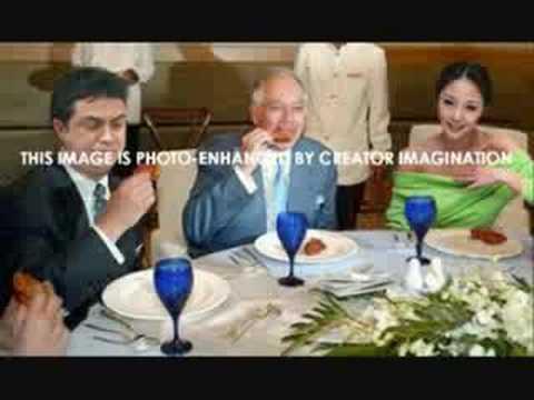 Who sit near Altantuya Nagib or Razak