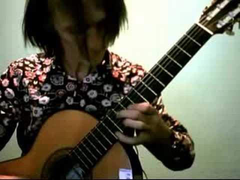 Love is Blue on classical guitar w string quartett