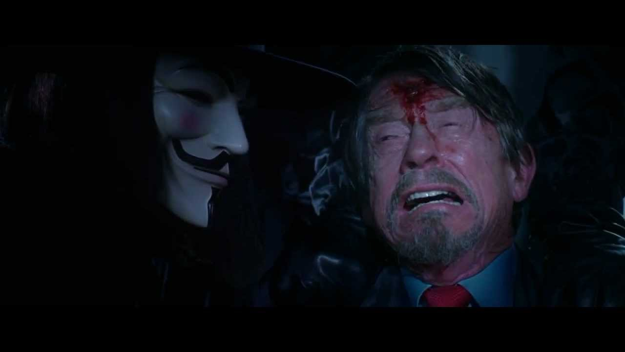 V For Vendetta (2005) final scene HD - YouTube