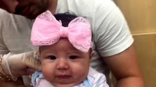 My Poor Baby !! Newborn Ear Piercing