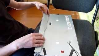 Acer P193w замена ламп подсветки