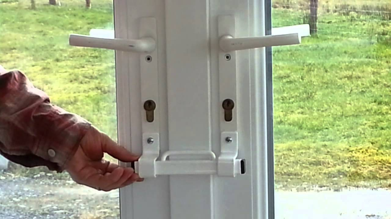 Double Entry Door Security Bar Home Design