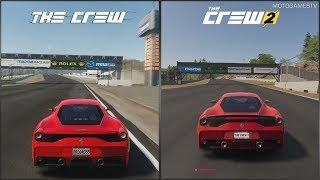 The Crew vs The Crew 2 - Mazda Raceway Laguna Seca Comparison (Ferrari 458 Speciale)