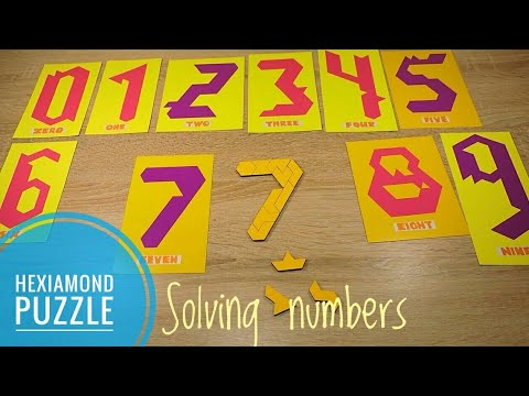 Pentomino Hexiamond Numbers from 0 to 9...