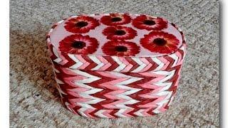 Плетение из бумаги в 3 трубочки  /  The weave of the paper 3 rolls