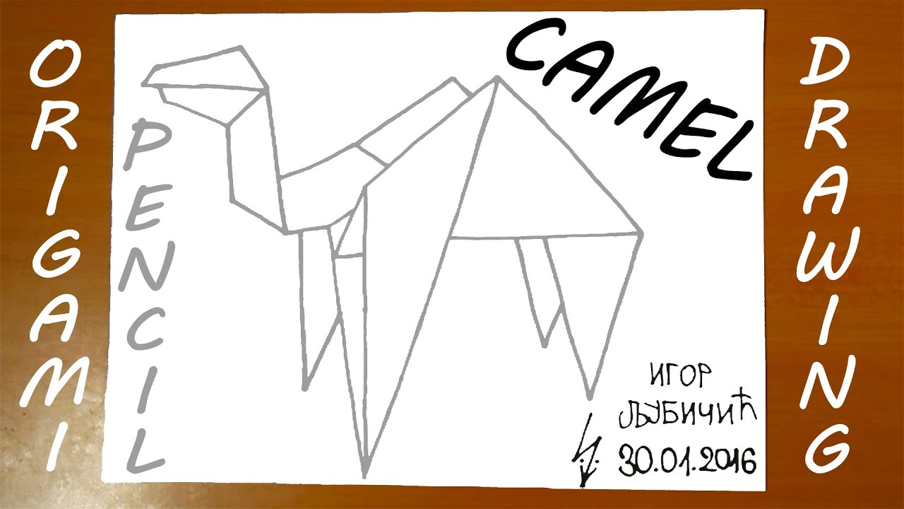 how to draw a camel step by step easy origami paper