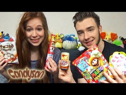 Dégustation Candysan en couple #3 Bonbons Super Mario ! PUDDING EN CANETTE ! Bonbon Moussant !