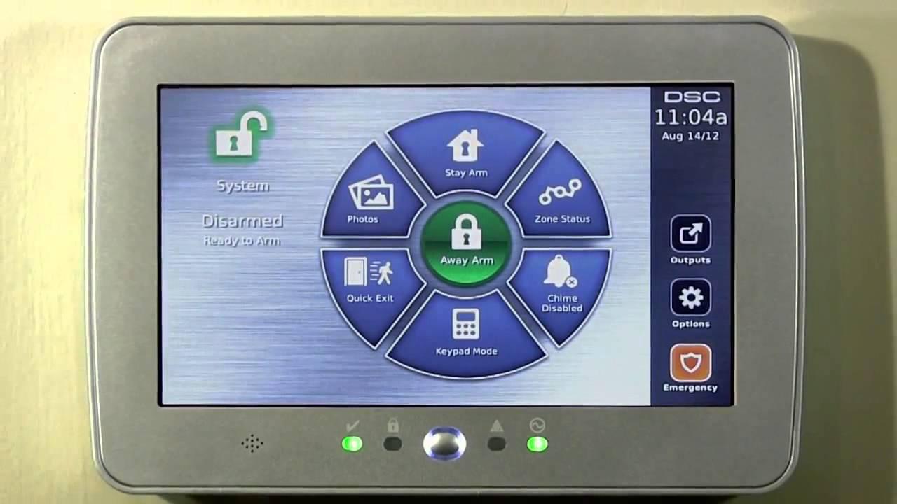 Security Alarm System Keypad