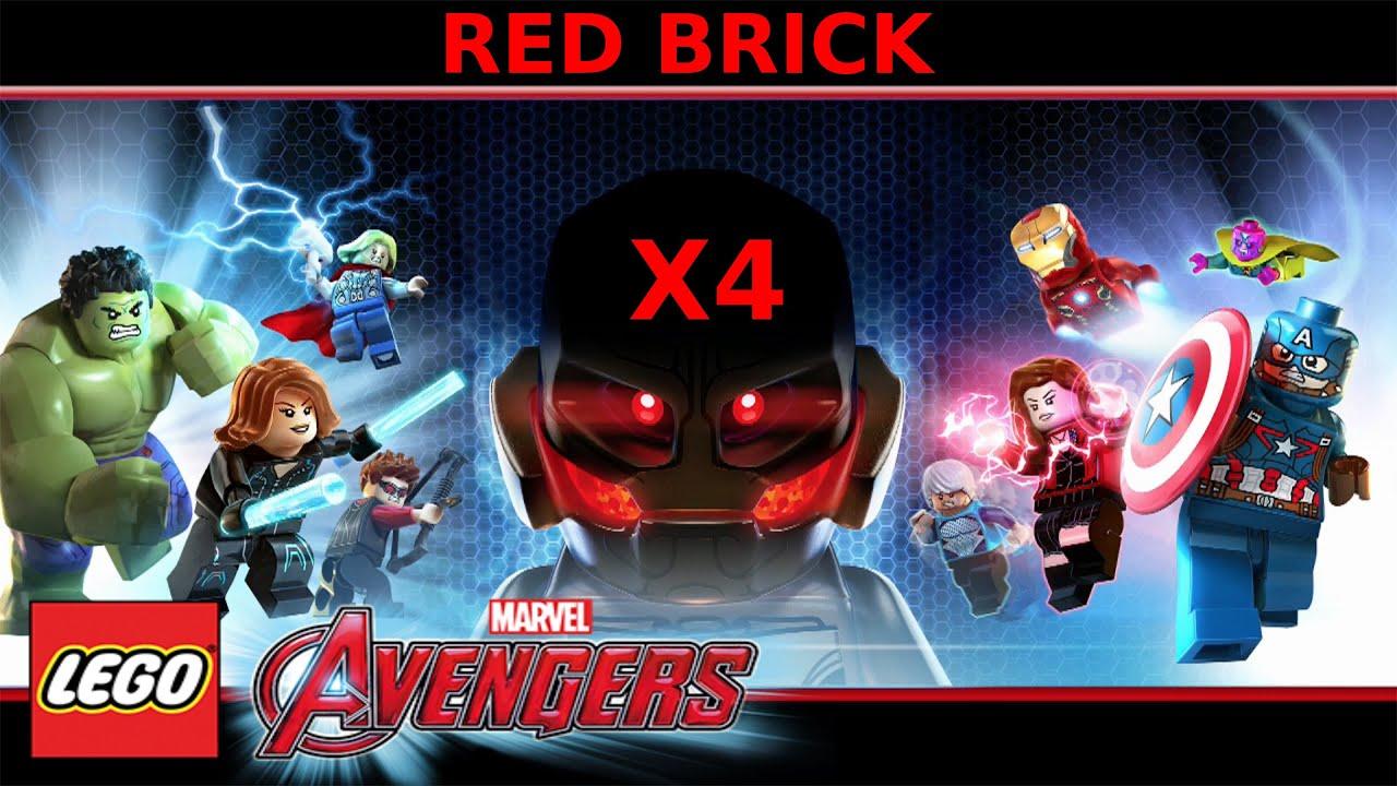 marvel lego x4 brick