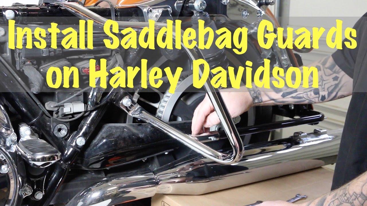 Install Saddlebag Guard Crash Bars On Harley Davidson Biker 2014 Xl1200v Wiring Diagram Motorcycle Podcast Youtube
