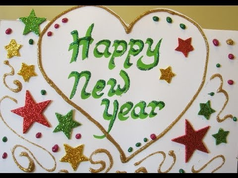 How To Make Handmade Cards - New Year Card - YouTube