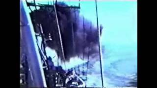 USS Blandy DD-943 North Vietnam 1968 taking Hostle Fire with FirearmPop