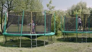 видео Батут Sport Elite 12FT 3.66м с защитной сеткой и лестницей - «Фитнес, здоровье, позитив и у детей, и у взрослых!»