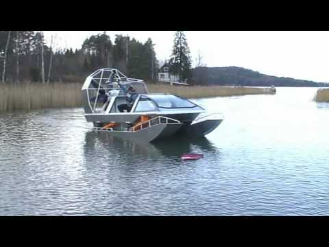 Airboat in water