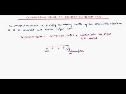 Conversion value of Convertible debenture