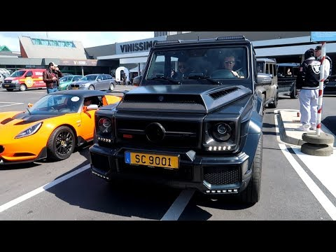900HP BRABUS Mercedes G900!! Départs du Cars & Coffee Luxembourg!