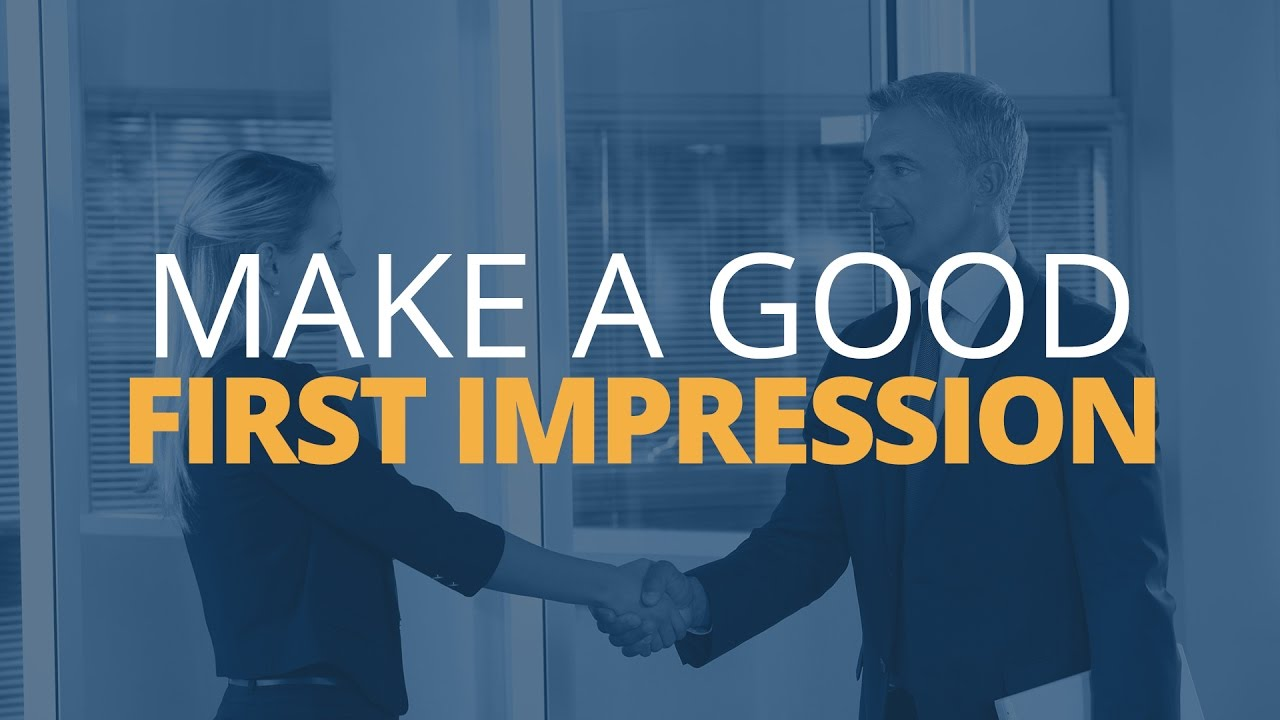 The importance of first impressions