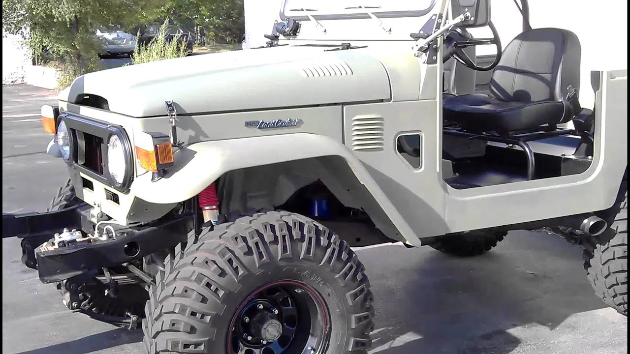 EPIC 1975 Toyota Landcruiser FJ40 with 1970 era LT1 350 V8 Engine ...