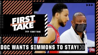 Doc Rivers: 'We're not gonna give up on Ben Simmons' | First Take