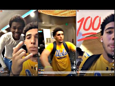 LiAngelo Ball Funny Moments On Instagram Live AT UCLA :: DAY IN THE LIFE WITH THE BALL BROTHERS!