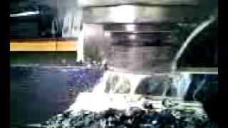 Cincinnati #4 milling machine removing heavy metal