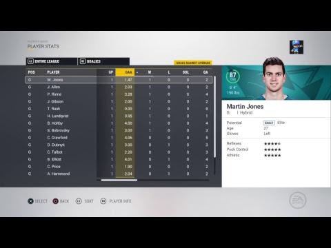 NHL 17 2017 Playoff Playthrough Ep 8 Bobrovsky The Legend
