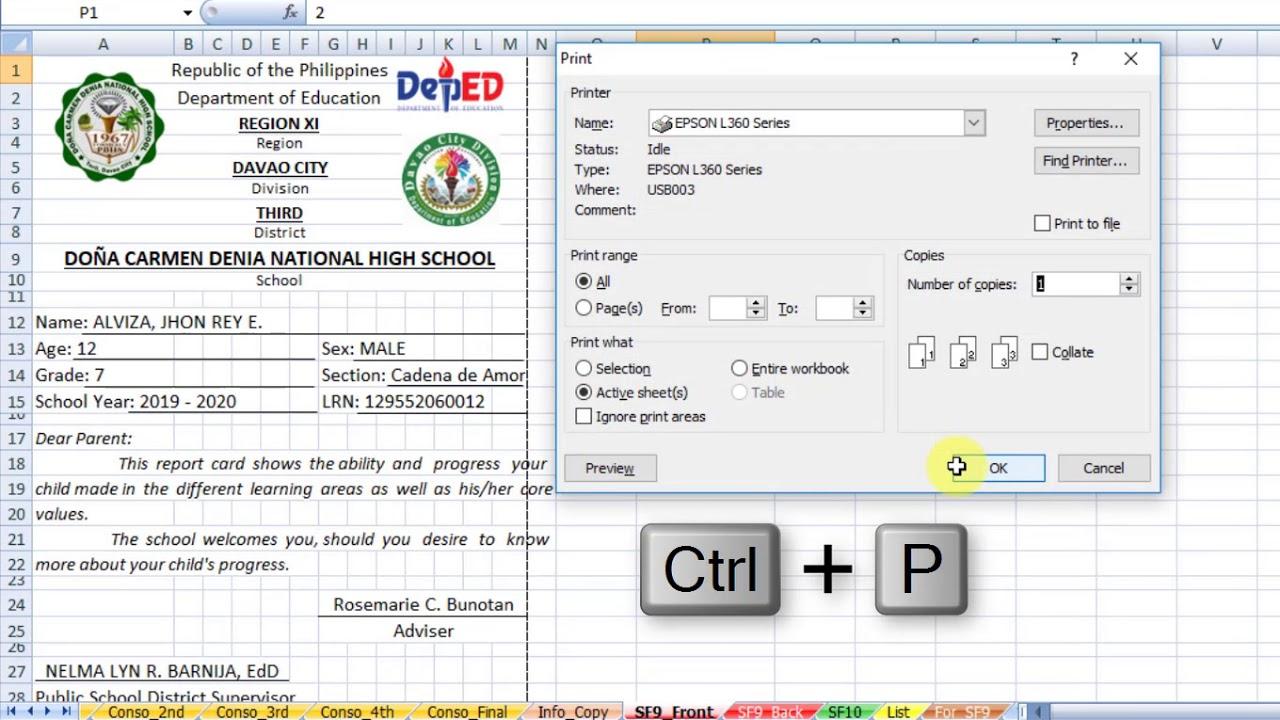 sf 9 report card  6 Exploring SF6 Report Card Sheet - YouTube