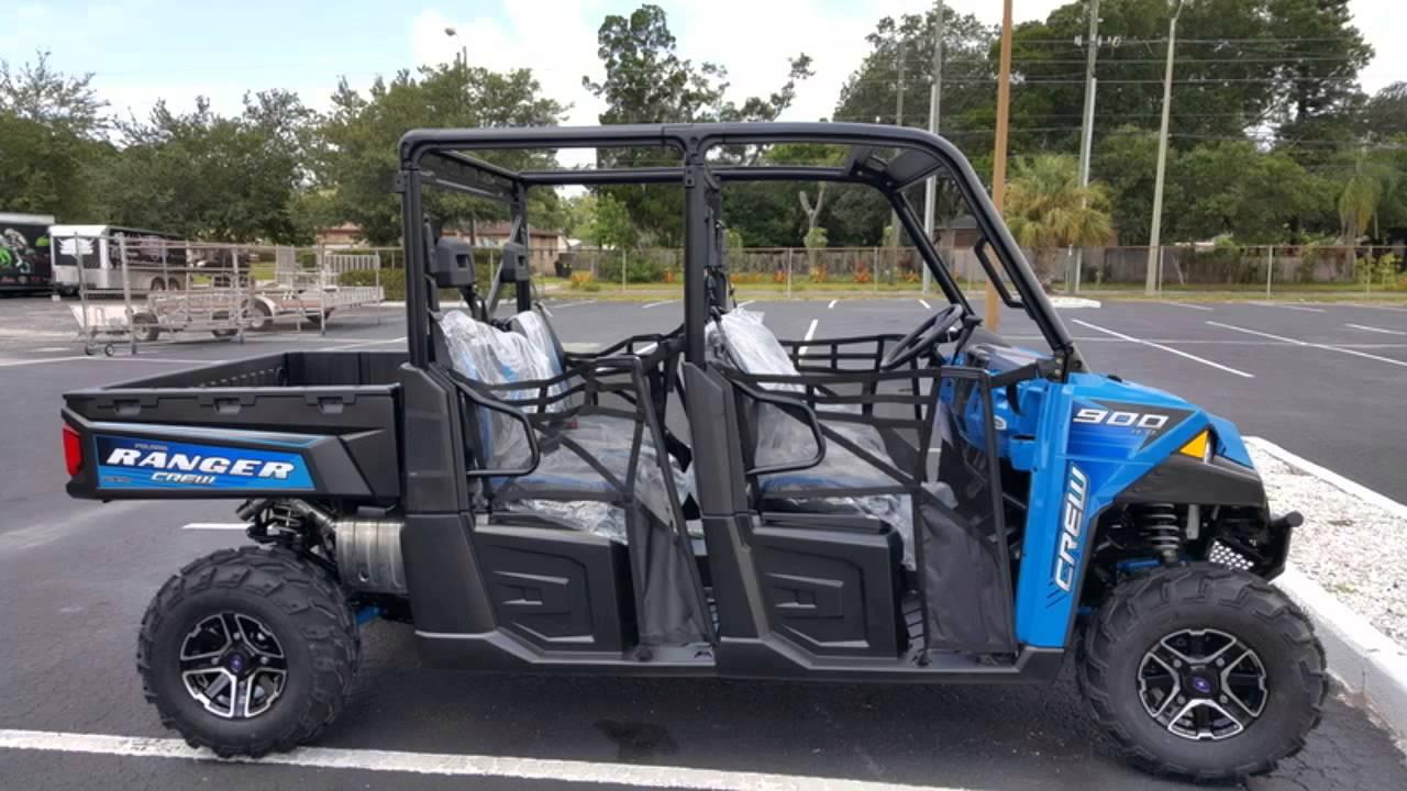 New 2016 Polaris Ranger Crew Xp 900 6 Eps Velocity Blue For In St Petersburg Florida