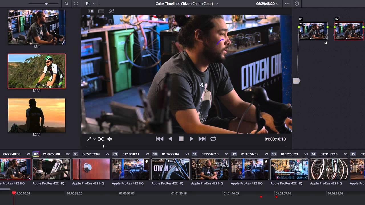 DaVinci Resolve 達文西專業調色剪輯軟體(調色)介紹影片 - YouTube