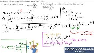 suites géométriques - somme de termes - TleS