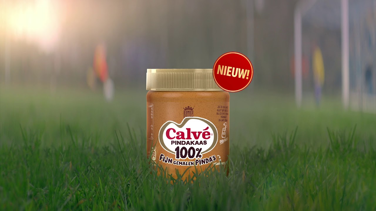 Nieuw! Calvé pindakaas, 100% pinda's en verder niks.
