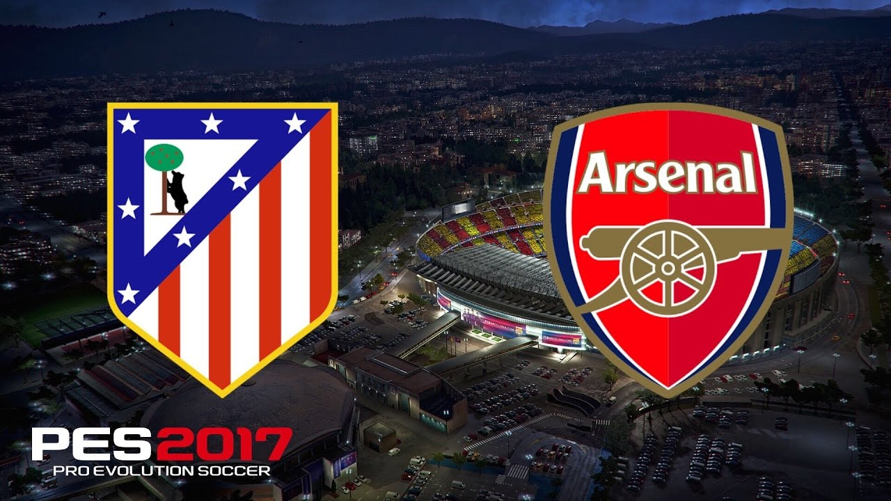 Uefa Champions League Atletico Madrid Vs Arsenal Final Pes  Gameplay