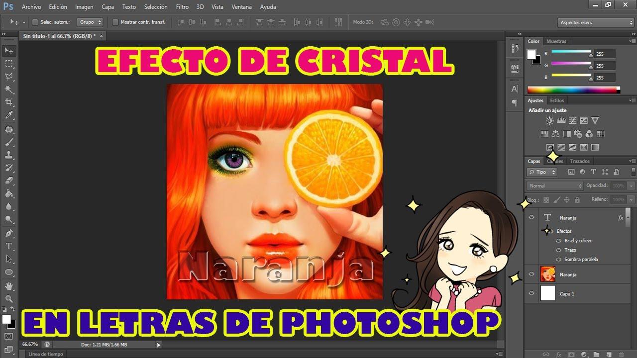 Tutorial efecto de cristal en letras - Photoshop CS6 💜