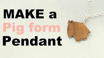 make a pig pendant / 돼지띠 아이의 미아방지 은목걸이 만들기