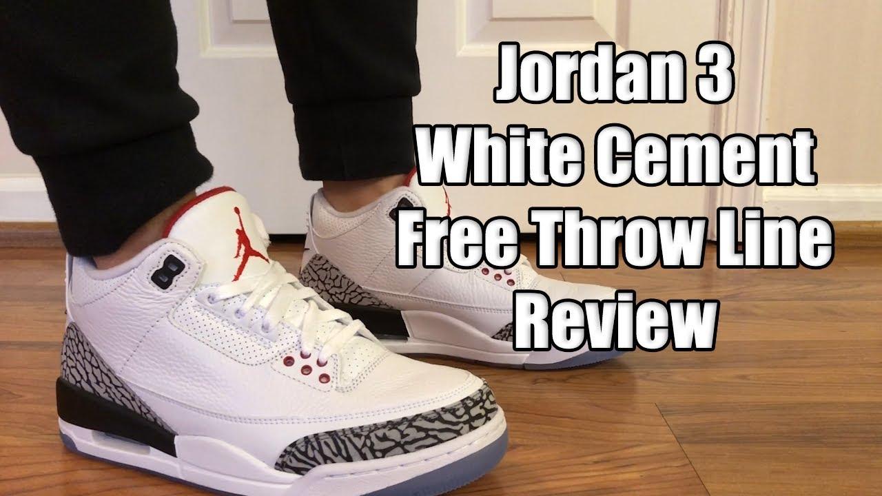 air jordan 3 free throw line on feet