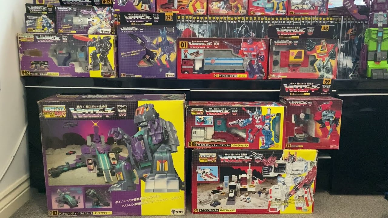 Transformers Japanese G1 Vintage Complete Takara Raiden, Stepper, Convoy by Toys Are Russ