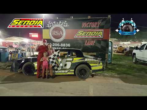 #16 Scott Amoson - 1st Win - Bomber - 8-12-17 Senoia Raceway - In Car Camera