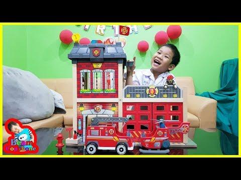 น้องบีม   รีวิวของเล่น EP146   สถานีดับเพลิงไม้ฮาเป้ Toys