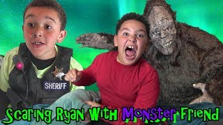 COP Brothers SCARE Ryan with Secret MONSTER! Sheriff is SUSPICIOUS!...