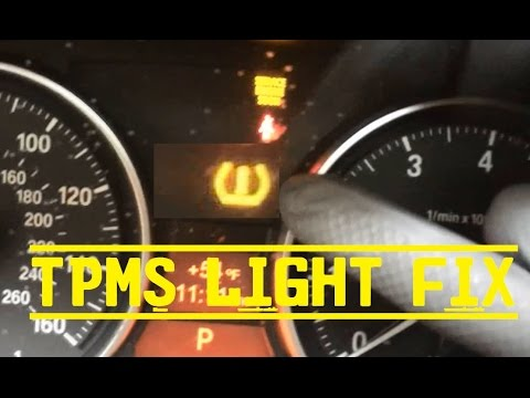 Bmw Quot Tpms Quot Tire Pressure Light Reset Youtube