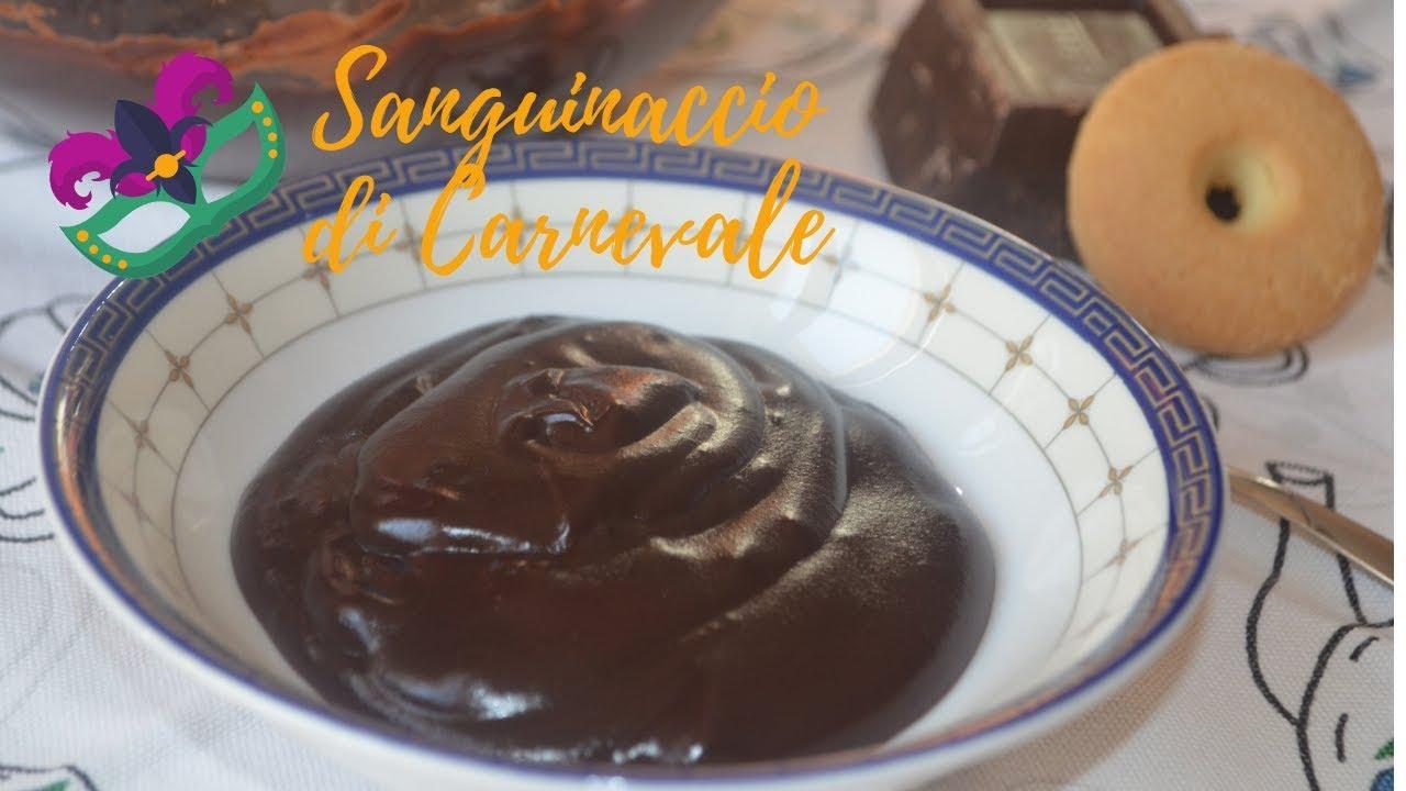 Sanguinaccio,crema al cioccolato di Carnevale...senza sangue tutto cioccolato