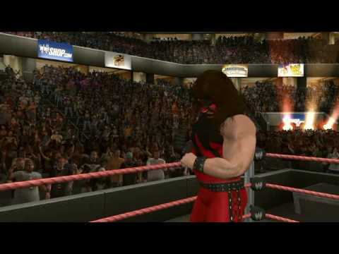 WWE SvR 2010 Kane vs Brock Lesnar Part 1