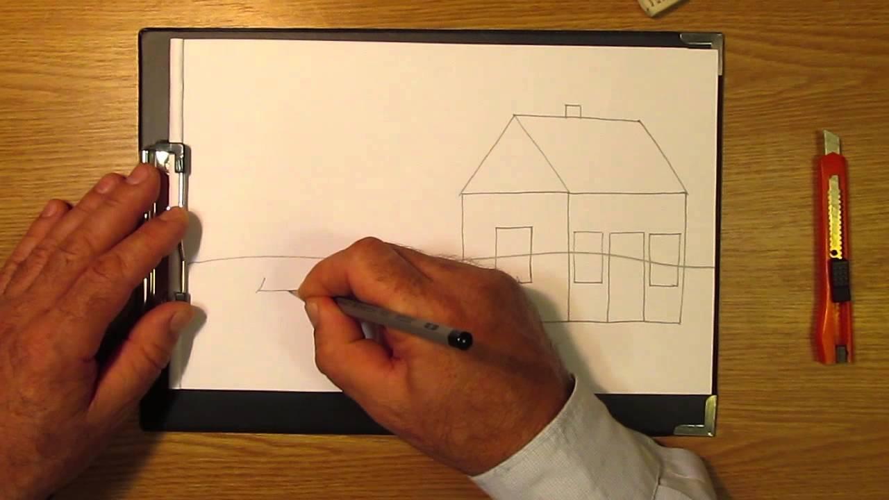 71Рисунки дом как нарисовать поэтапно