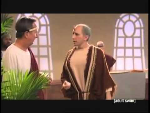 """Courtroom scene from """"Rising Son"""" on Adult Swim"""
