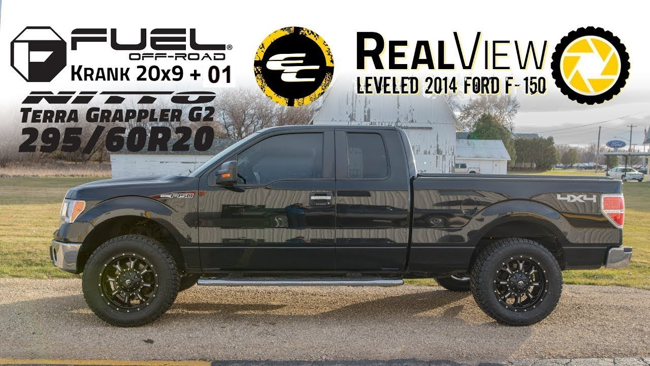 2015 F150 Black Wheels >> RealView - Leveled 2014 Ford F-150 w/ 20x9 Fuel Offroad Kranks & 295/60 Nitto G2s - YouTube