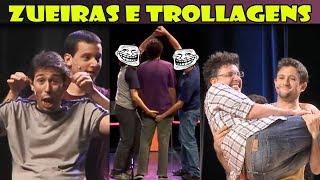 Zueiras e Trollagens no palco do Improvável