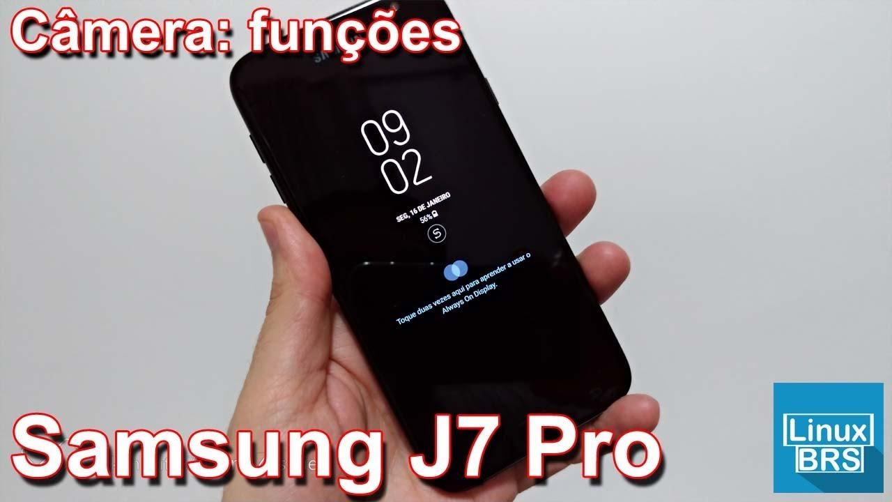 ebf8150b7a Samsung Galaxy J7 Pro - Câmera Funções - YouTube