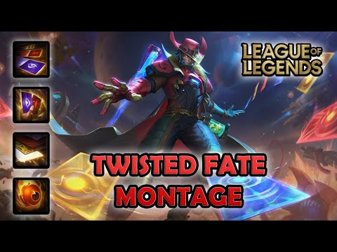 TWISTED FATE MONTAGE - 200 IQ   Odyssey Twisted Fate Skin   League of Legends